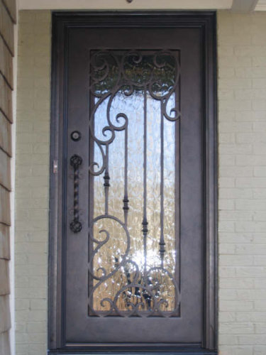 Wrought iron entry doors new orleans mandeville for Wrought iron front doors