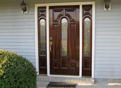 Insulated Beveled Glass Doors
