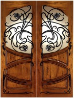 AN 2002 152x200 - Wood Doors with Iron Grilles
