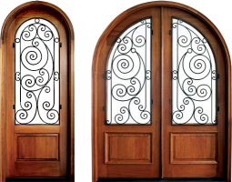 Pinehurst Ansonborough 255x200 - Wood Doors with Iron Grilles