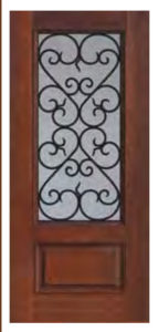 1 Panel 34 Lite Palermo Door1 144x300 - Fiberglass Doors Artisan Collection