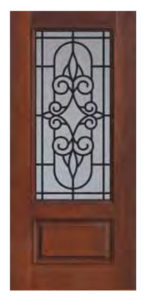 1 Panel 34 Lite Salento Door1 150x300 - Fiberglass Doors Artisan Collection