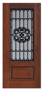 1 Panel 34 Lite Tivoli Door1 146x300 - Fiberglass Doors Artisan Collection