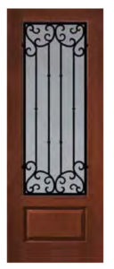1 Panel 34 Lite Valencia Door1 128x300 - Fiberglass Doors Artisan Collection