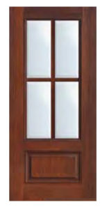 1 Panel 4 Lite SDL Door 681 154x300 - Fiberglass Doors Artisan Collection