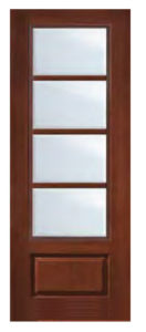 1 Panel 4 Lite SDL Door 81 132x300 - Fiberglass Doors Artisan Collection