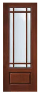 1 Panel Marginal 9 Lite SDL Door 8 1 128x300 - Fiberglass Doors Artisan Collection