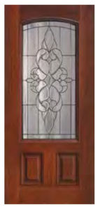 2 Panel Arch Lite Courtlandt Door 143x300 - Fiberglass Doors Artisan Collection