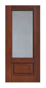 34 Lite Privacy Clear Glass Doors 68 157x300 - Fiberglass Doors Artisan Collection
