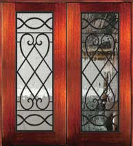 6 8 savannah1 - Wood Doors with Iron Grilles