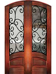 8 0 marino1 - Wood Doors with Iron Grilles
