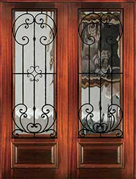 8 0 palermo1 - Wood Doors with Iron Grilles