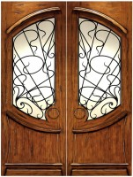 AN 2001 151x2001 - Wood Doors with Iron Grilles