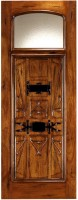 AN 2005 78x2001 - Wood Doors with Iron Grilles
