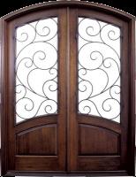 Aberdeen Burlwood 154x2001 - Wood Doors with Iron Grilles