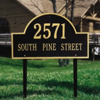 Arch Marker Estate Lawn Two Line 200x2001 - Address Markers and Plaques