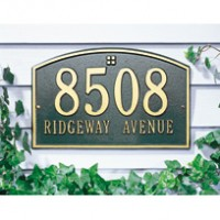 Cape Charles Standard Wall Two Line 200x2001 - Address Markers and Plaques