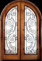 Charleston Ansonborough 138x2001 - Wood Doors with Iron Grilles