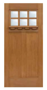 Craftsman 6 Lite SDL Door 68  157x300 - Fiberglass Doors Artisan Collection
