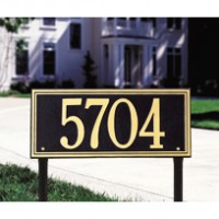 Double Line Estate Lawn One Line 200x2001 - Address Markers and Plaques