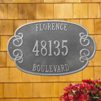 Florence Estate Wall Three Line 200x2001 - Address Markers and Plaques