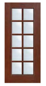 Full Lite 10 Lite SDL Door 68 162x300 - Fiberglass Doors Artisan Collection