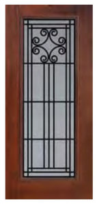 Full Lite Novara Door 145x300 - Fiberglass Doors Artisan Collection
