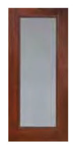 Full Lite Privacy Clear Glass Doors 68 150x300 - Fiberglass Doors Artisan Collection