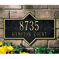 Hampton Standard Wall Two Line 200x2001 - Address Markers and Plaques
