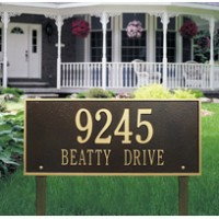 Hartford Estate Lawn Two Line 200x2001 - Address Markers and Plaques