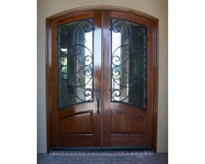 Marino1 300x240 - Wood Doors with Iron Grilles