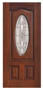 Oval Lite Versailles Door 145x300 - Fiberglass Doors Artisan Collection