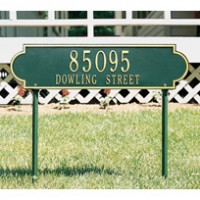Richmond Horizontal Estate Lawn Two Line 200x2001 - Address Markers and Plaques