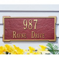 Roanoke Standard Wall Two Line 200x2001 - Address Markers and Plaques