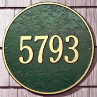 Round Estate Wall One Line 200x2001 - Address Markers and Plaques