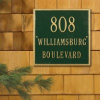Square Standard Wall Three Line 200x2001 - Address Markers and Plaques