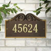 Versailles Standard Wall One Line 200x2001 - Address Markers and Plaques