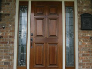 WOOD Style 6 Panel Mahogany w  Fleur de Lis Side Lights1 300x225 - Solid Wood Doors