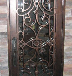 a 101 57 wine1 284x300 - Wrought Iron Doors