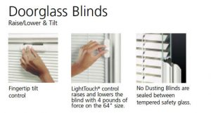 blinds21 300x161 - Fiberglass Doors Artisan Collection