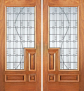 cUN 678b col - Insulated Beveled Glass Doors