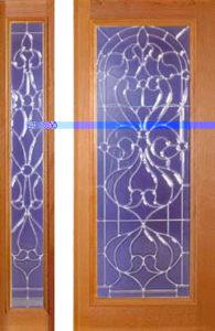 standarddoors119 117sl1 195x300 - Insulated Beveled Glass Doors