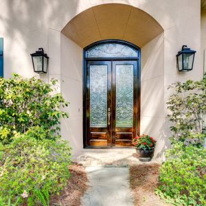 10 300x300 - Beveled Glass Transom & Doors Make for a Grand Entrance