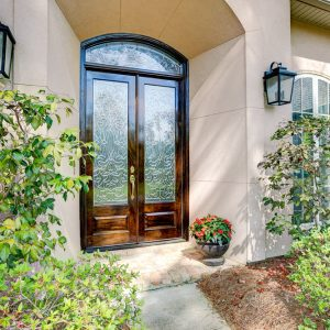 12 300x300 - Beveled Glass Transom & Doors Make for a Grand Entrance