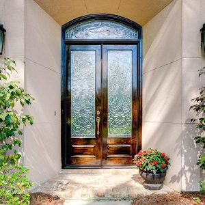 13 300x300 - Beveled Glass Transom & Doors Make for a Grand Entrance