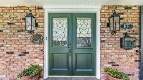 Old leaded glass Doors
