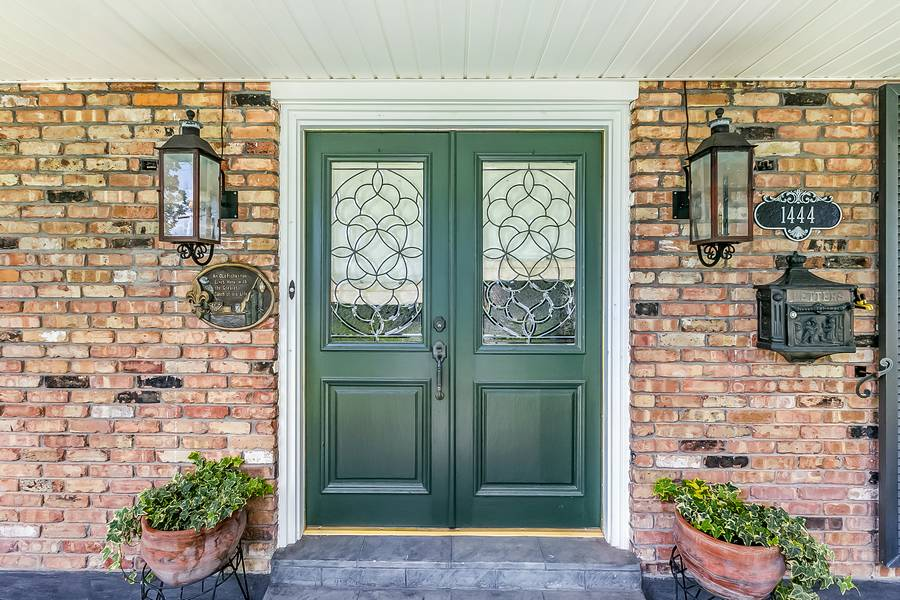 1 - Would you replace these leaded glass doors?