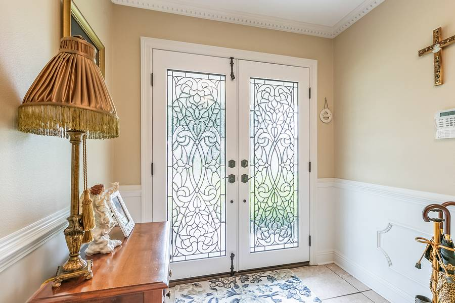 7 - Would you replace these leaded glass doors?