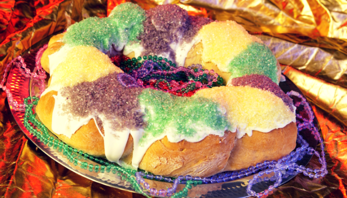 King Cake - Enter to WIN Your Favorite King Cake in our Mardis Gras Decorated Door Contest