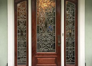 Insulated Beveled Glass Doors
